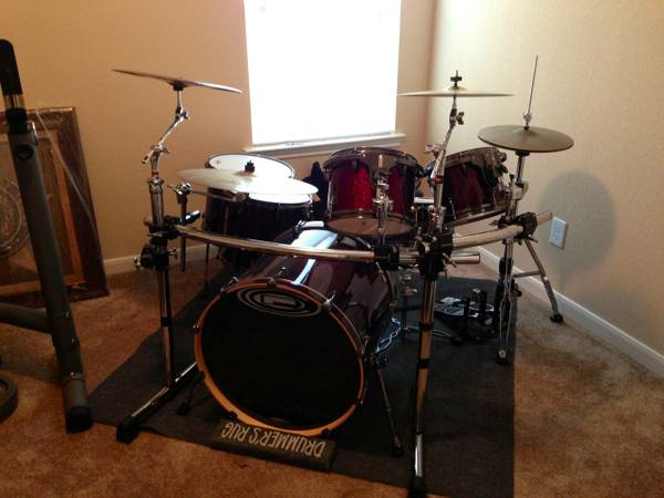 OCDP 6 piece drum kit with cymbalsrackmore - $1800 (Spring)