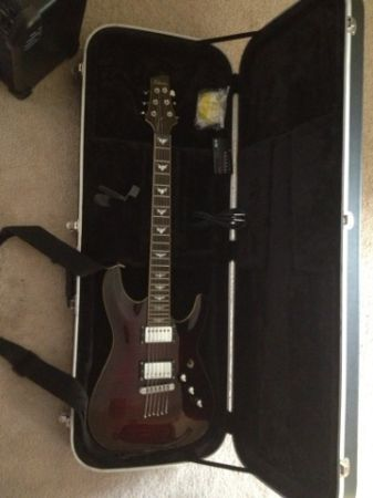 schecter diamond series C-1. - $350 (Conroe)