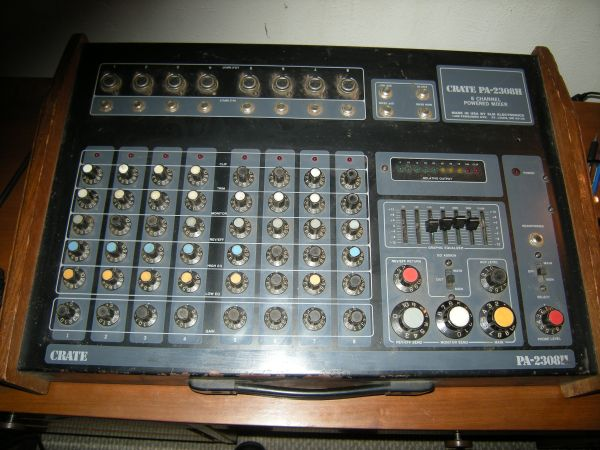 Crate PA 2308H 8-Channel Powered Mixer for sale or trade - $180 (Southwest Houston)
