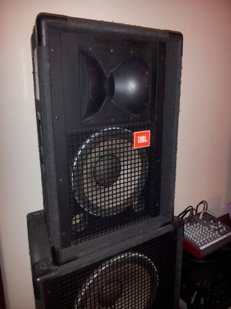 JBL SR4722 Speakers Allen Heath Mixer - $600 (Baytown)