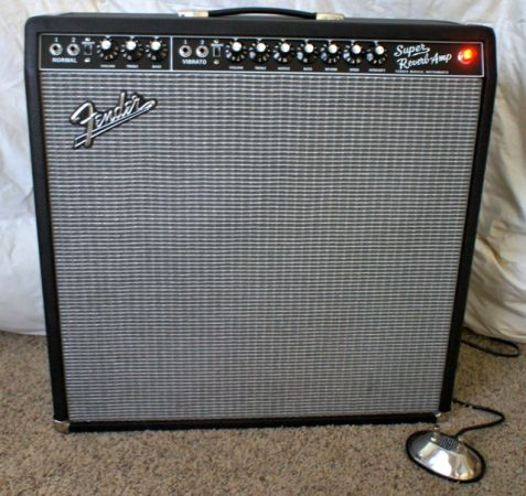 MINT Fender Super Reverb 65 Reissue Guitar Amp w Bill Webb Mods - $1 (Houston)
