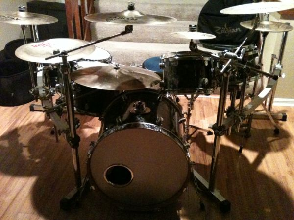 Full drum set or part out (Pacific PDP Pearl Gretsch Sabian Zildjian) (Clear Lake)