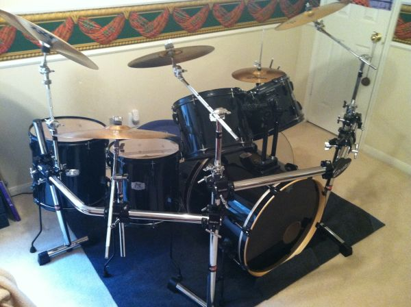 Pearl EX export 6 piece drum set with hardware and many accessories - $2100 (Kingwood)