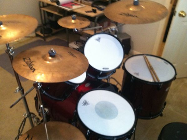 pearl soundcheck drums with cymbals - $400 (sugar land)