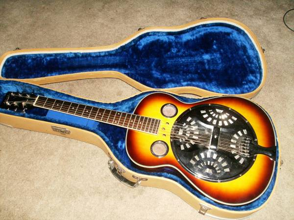 Austin resonator guitar with case - $200 (The Heights)