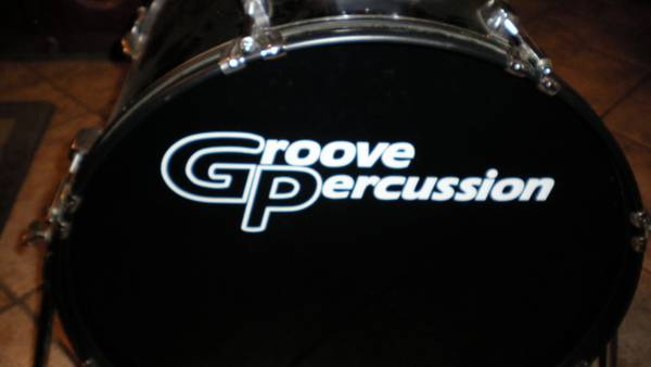 GROOVE PERCUSSION DRUM SET 5 DRUMS - $350 (cypress,  tx.)