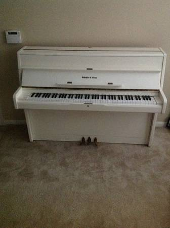 White Schafer sons piano - $800 (Webster)