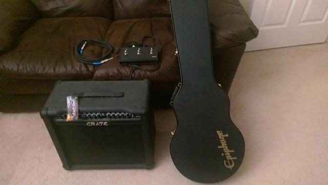 Epiphone Electric Guitar and 65 watt Crate amplifier