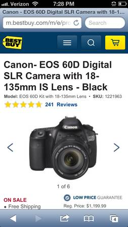 BRAND NEW IN BOX Canon EOS 60D w Lens (18-135) FREE Cleaning Kit - $970 (Houston)