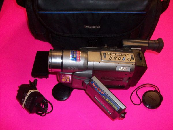 JVC GR-SXM340 Camcorder - Metallic Gray Super VHS Video Camera - $300 (tomball)