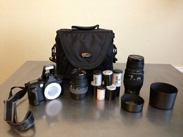 Minolta Maxxum 70 35mm w 2 lens and case - $275 (NW Houston)