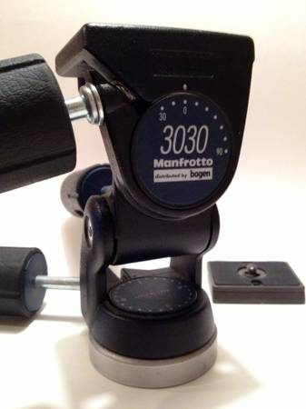Bogen 3030 3-Way PanTilt Tripod Head with Quick Release Plate - $30 (Pearland)