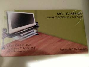 FAST CASH FOR YOUR BROKEN TV (KATY, TEXAS)
