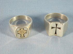 seeking james avery mens cross ring (north )