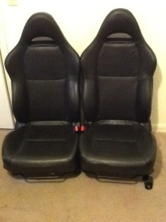 Wtt leather RSX type s seats for off set rims 4x100 - $1 (North houston)