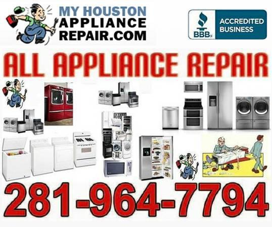 All  Appliance  Repair    Houston  Katy  Cypress More  Area  We  Service