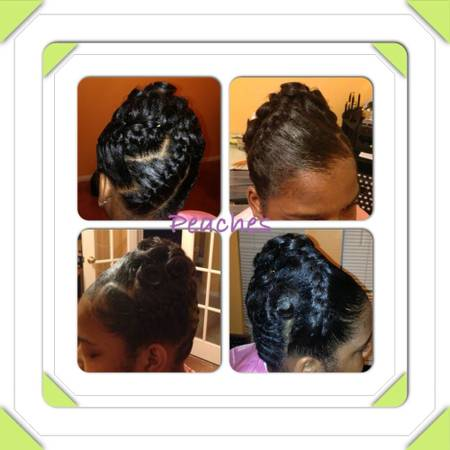 $25 shoo set $35 quick weave $35 relaxers wstyle $75 sew-ins