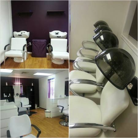Enjoy a glass of wine and get pered (Snooty Girl Luxury Hair Studio)
