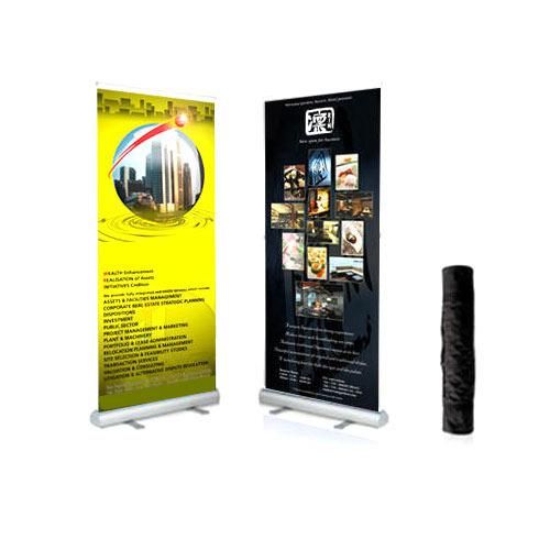 Two Retractable Banner Stands   149 only