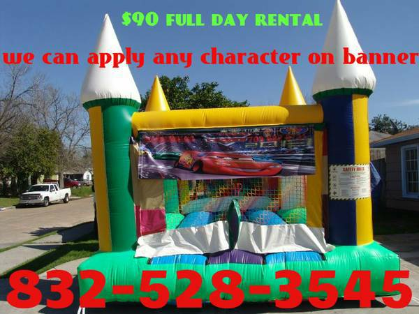 8680 8680 8680 1 moonwalk 2 tables 20 chairs $100 full day (CALL OR TEXT 832-528-3545)