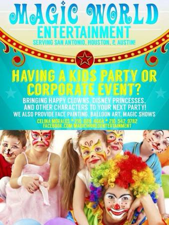 973397339733 FACE PAINTING, BALLOON ART, MAGIC SHOWS MORE 9733 (Houston, TX (210) 889-4664)