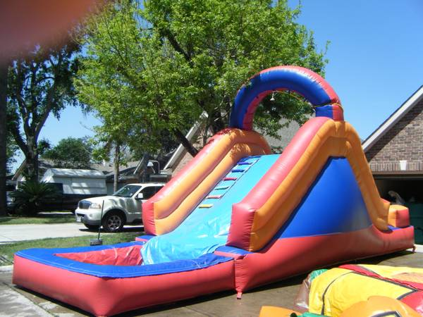 water slides MOONWALKS AND COMBOS 3 IN 1 W POOL (KATY,CYPRESS. HOUSTON SPRING BRANCH)