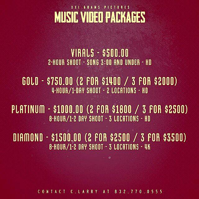 Hottest Music Videos in Houston at Best Price