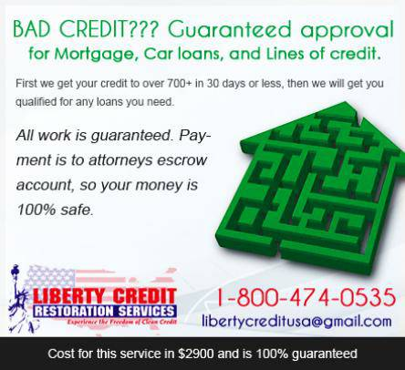Bad credit Mortgage loans, Bad credit lines of credit.