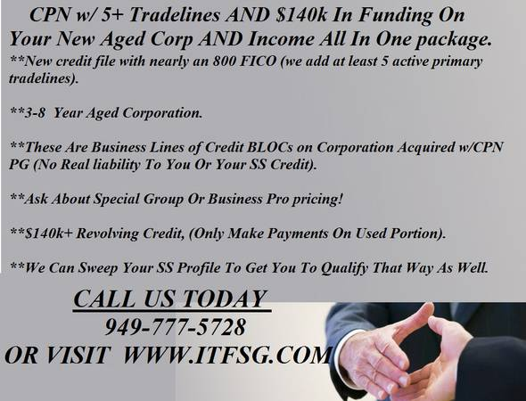 Tested, trusted, verified CPN and tradeline package (houston)
