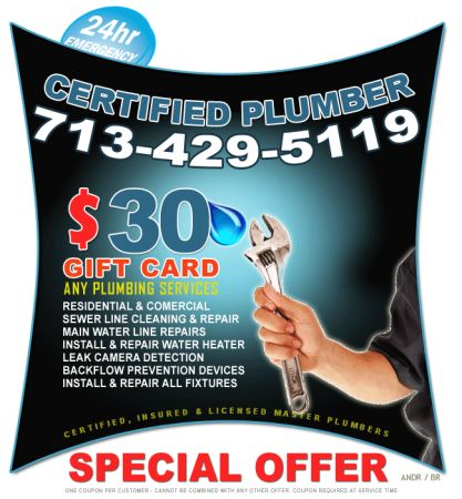 PROPER PLUMBING REPAIRS FOR HALF THE PRICE (Houston)