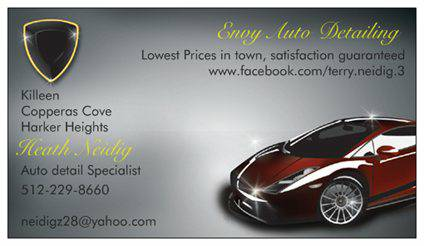 Auto detailing wash, wax and scratch removal (Killeen)