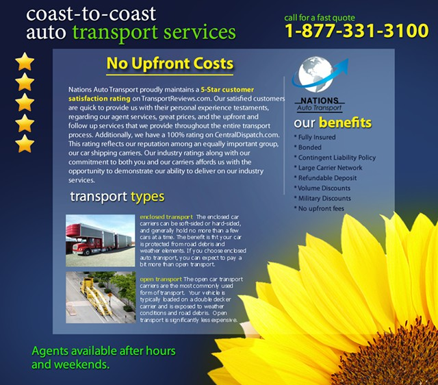 Auto Transport Quotes 124 Rates 124 Estimates - Nationwide Open and Enclosed 877-331-3100