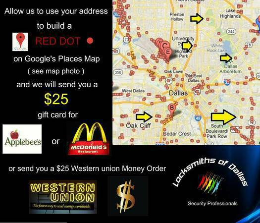 FREE-- 25 McDonalds Gift Cards--FREE-- 25 for McDonalds--   Dallas