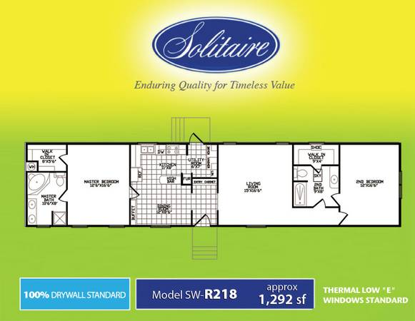 2br - HUGE 2 bedroom Clearance Priced (Solitaire Homes of Temple)