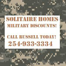 MILITARY DISCOUNTS NO PRESSURE TO COME LOOK (SOLITAIRE HOMES TEMPLE TX)