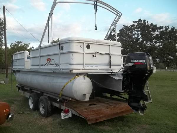 22ft sunset bay pontoon 4sroke 60 - $4095 (madisonville)