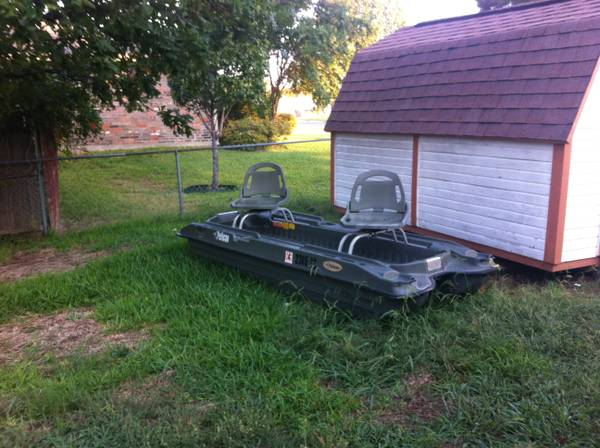 Pelican bass raider fishing boat - $400 (Troy)