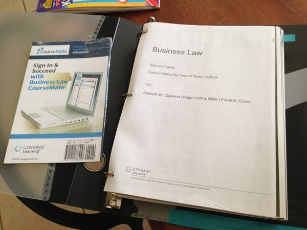 BUSI 2301 - 12th Edition - CTC Book - $100 (Killeen)