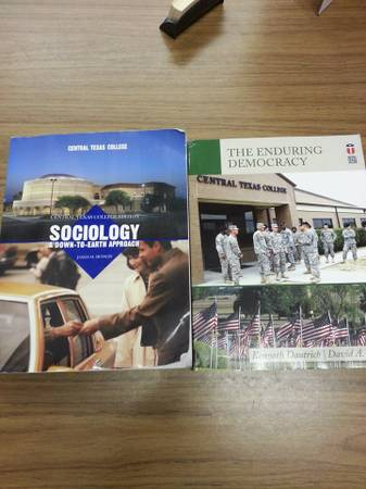 Sociology 1301 GOVT 2305 Enduring Democracy CTC Books - $50 (Killeen)