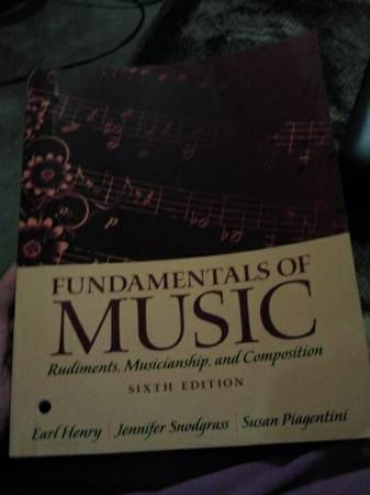 Fundamentals of Music isbn-13 9780205118335 - $50 (Copperas Cove)