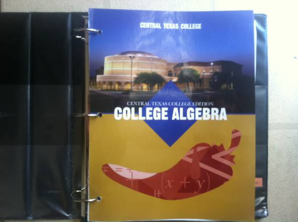 CTC MATH 1414 Textbook - $60 (Belton)