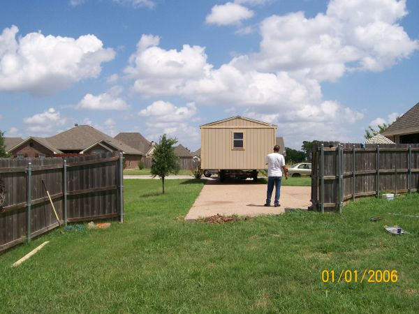 Storage sheds moved. We move any shed or portable building anywhere - $1 (Central Texas)