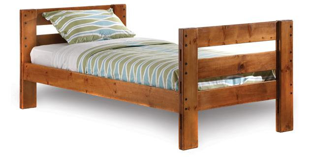 250  Full Size Solid Pine Bed with Mattress
