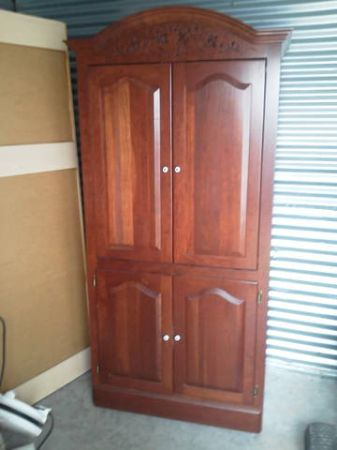 solid cherry armoire or entertainment center - $175 (WACO)