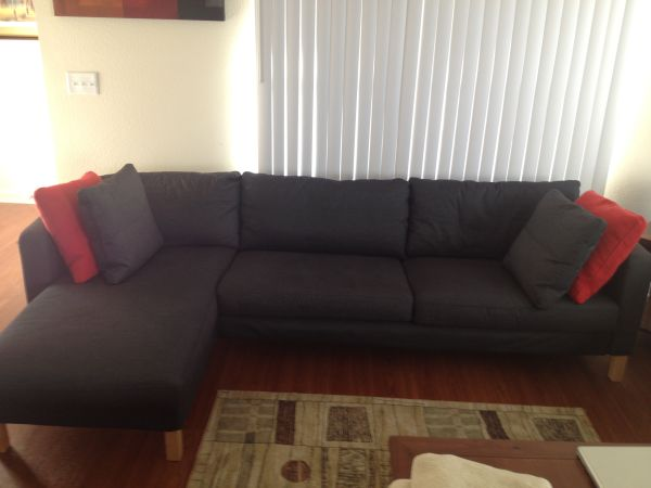 Ikea couch with chaise lounge - $350 (Ft Hood Tx)