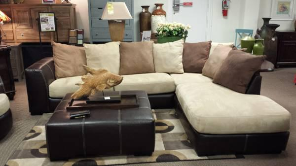 New microfiber sectional for sale