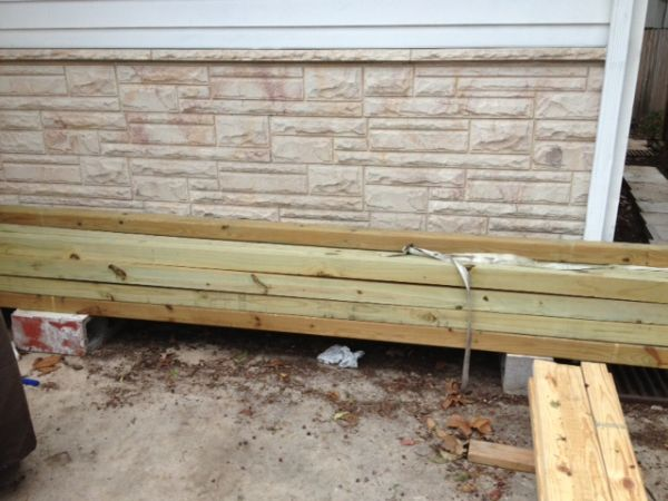 4x4x12 Treated Lumber Espotted