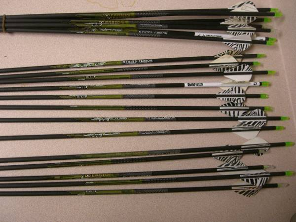 60 Arrows Easton Axis 400,  Superlite ACC,  Maxima Hunter 250 more - $4 (Temple, TX)