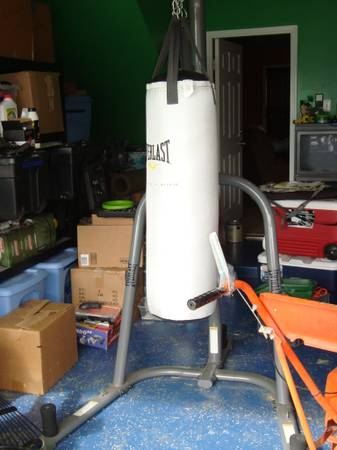 Everlast Punching Bag and Stand - $125 (Killeen)