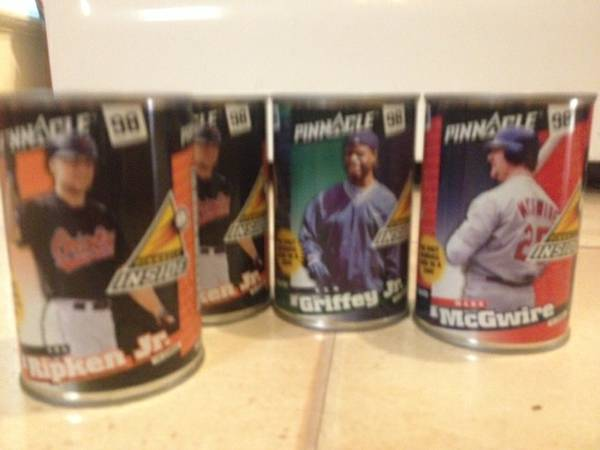 Collectible Pinnacle 98 SEALed Baseball Card Cans - $25 (TroyTemple)